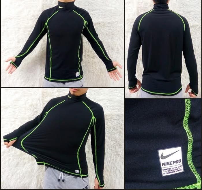 jual Baselayer / Manset Combat Stretch Nike Pro Green