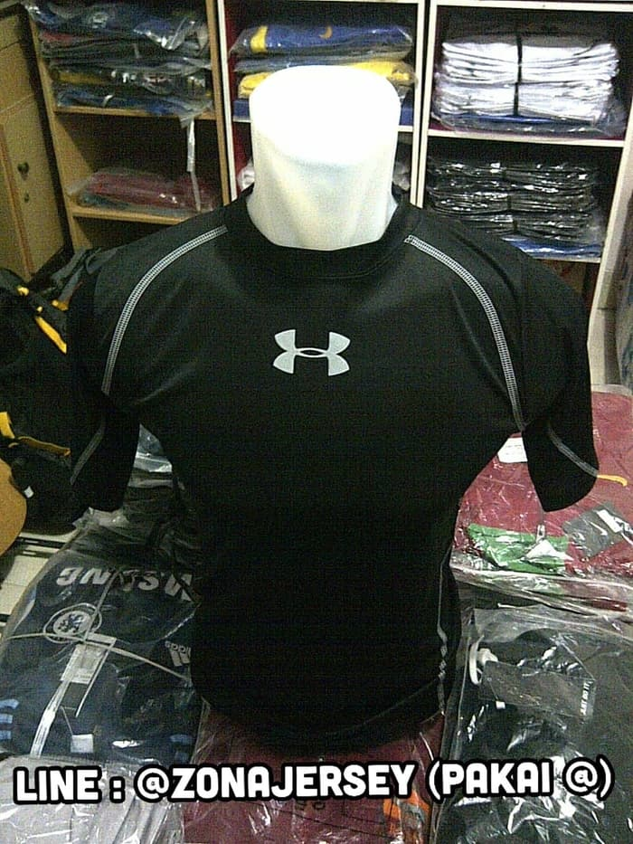 jual Baselayer / Manset Short Sleeve Black