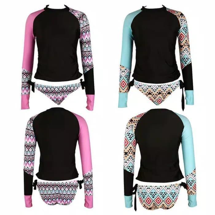 jual bikini set long hand surfing diving baju renang panjang swimwear murah
