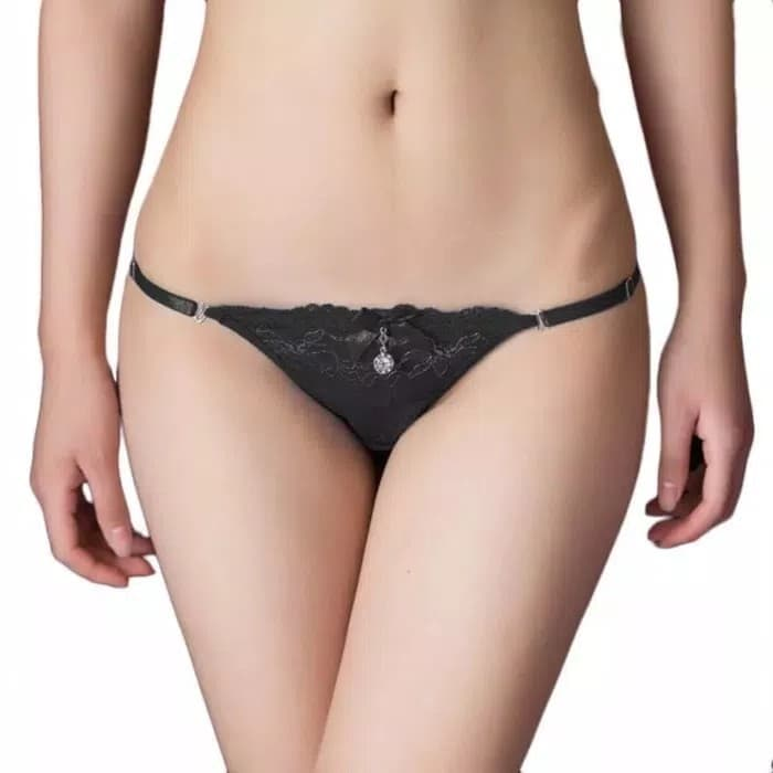 jual Celana Dalam Underwear Lingerie Bikini Gstring Thong Bra Panty Brief - Biru, All Size