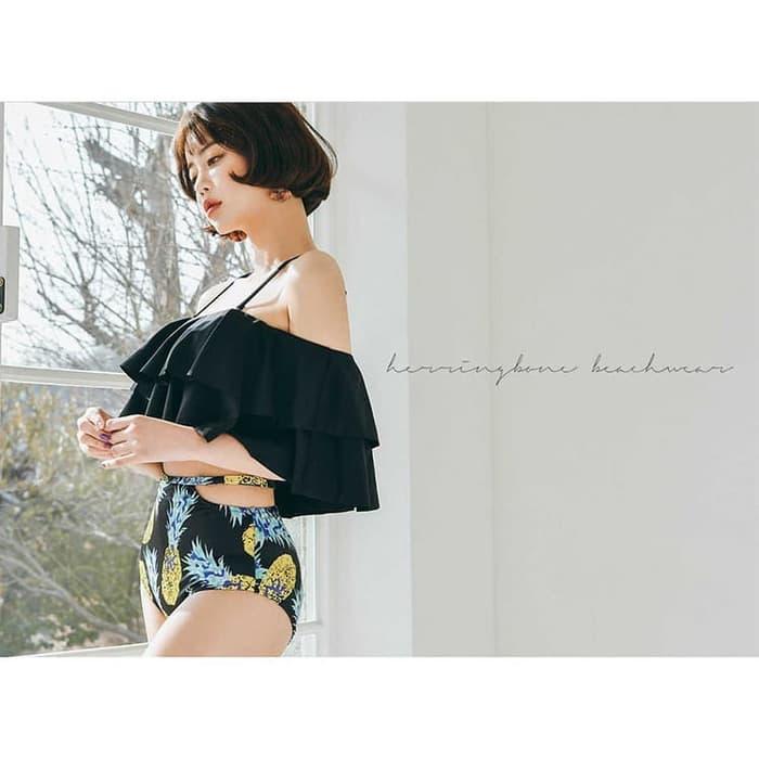 jual Bikini Set Sabrina Swimwear Busa Baju Renang   Celana     - Hitam