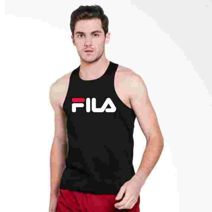Singlet FILA baju kaos fitness gym training fitnes