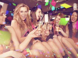 Rent a limo or party bus to a bachelor or bachelorette party