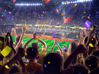 Rent a limo or party bus to a sporting event