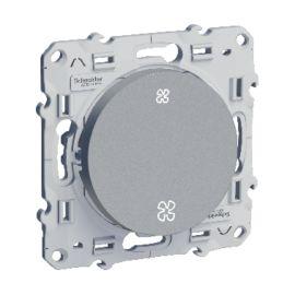 Odace, interrupteur VMC Alu, sans position arrêt, à vis photo du produit