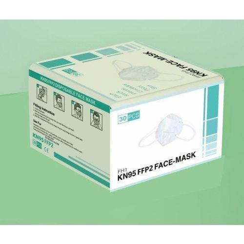 Masque respiratoire jetable FFP2 CE EN149 KN95 photo du produit