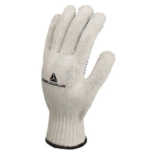 Gants tricot polycoton picots PVC taille 9 - DELTA PLUS - TP16909 pas cher