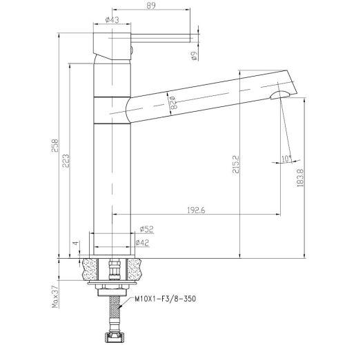 Mitigeur pour lavabo ONDYS - GARIS - R01-43040OD pas cher Secondaire 1 L