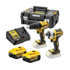 Pack de 2 outils sans fil Dewalt 18 V + 2 batteries 4.0 Ah Li-ion XR + chargeur + T-STAK pas cher Principale M