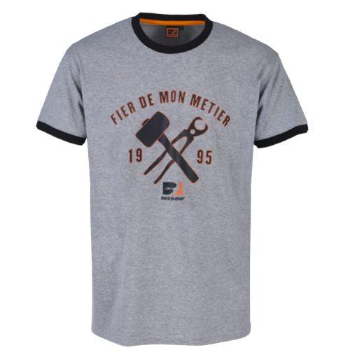Tee-shirt à manches courtes Métallo - BOSSEUR - 11270-003 pas cher Principale L