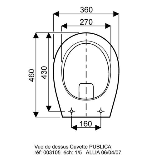 Cuvette surelevée verticale arrière cachée indépendante PUBLICA sac blanc - GEBERIT - 310500000 pas cher Secondaire 1 L