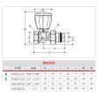 Robinet de radiateur thermostatique droit 3/8 - GIACOMINI - R422X132 pas cher Secondaire 1 S