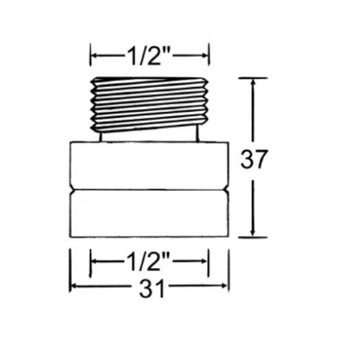 """Mini disconnecteur Watts série S8C 1/2"""" photo du produit Secondaire 1 L"""