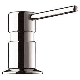Distributeur savon bec droit, bidon 1L, laiton chromé brillant pas cher Principale M