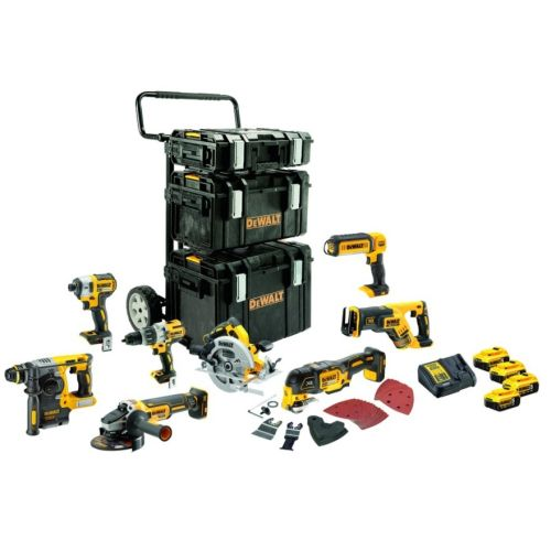 Pack 8 outils sans fil XR Dewalt DCK853P4 18V + 4 batteries 5.0 Ah + chargeur + Tough System photo du produit