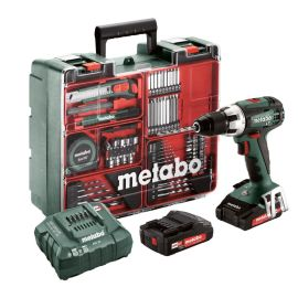 Perceuse-visseuse sans fil Metabo BS 18 LT Set 18 V + 2 batteries 2 Ah + chargeur + coffret + accessoires photo du produit