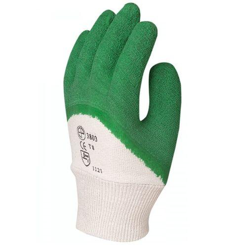 Gants anti-coupure latex crêpe vert Eurotechnique MO3805 photo du produit