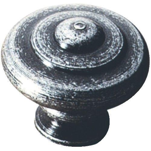 Bouton de meuble RUSTIQUE boule n°24 acier patiné Ø25 mm - BROS - 24A25 pas cher Secondaire 1 L