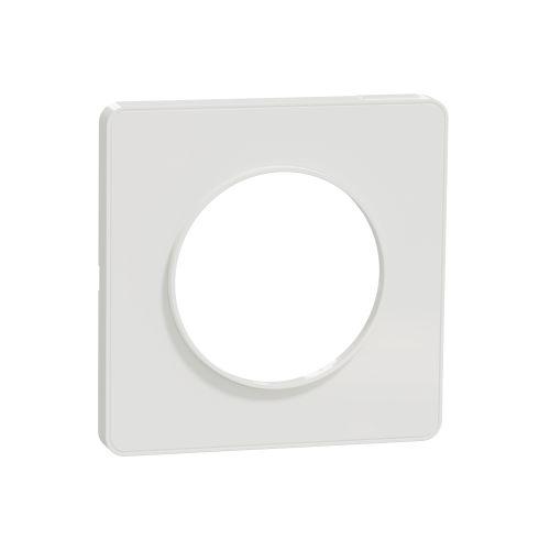 Plaque ODACE TOUCH blanche 1 poste - SCHNEIDER ELECTRIC - S520802 pas cher Principale L