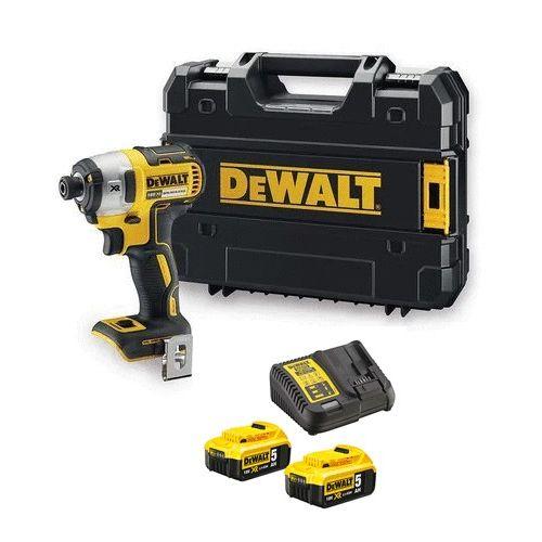 Visseuse à chocs sans-fil 18 V XR Brushless Dewalt DCF887NT + 2 batteries 5 Ah + chargeur photo du produit