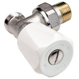 Robinets de radiateur thermostatique équerre nickelé COMAP photo du produit