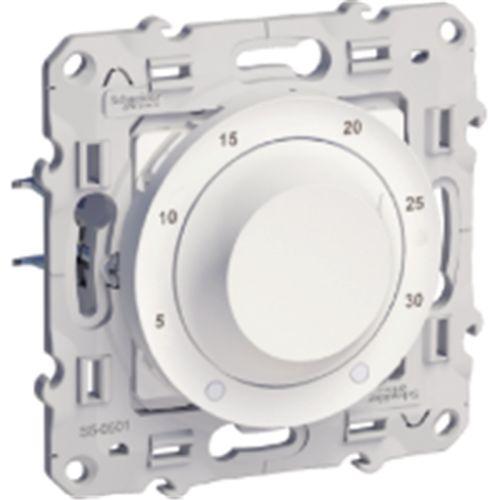 Thermostat ODACE blanc 8A pour chauffage/climatisation - SCHNEIDER ELECTRIC - S520501 pas cher Principale L