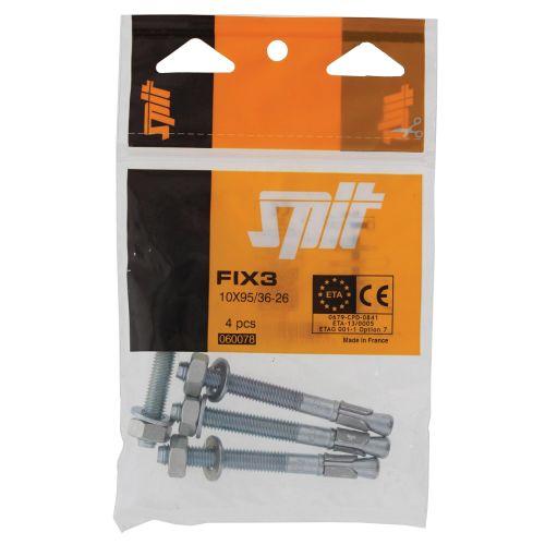 Goujon d'ancrage FIX3 pour béton non fissuré 12X125 filetage 50-35 boîte de 25 pièces - SPIT - 057473 pas cher Secondaire 7 L