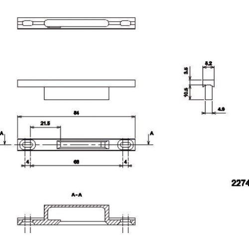 Gâche pour coulissant aluminium photo du produit Secondaire 11 L