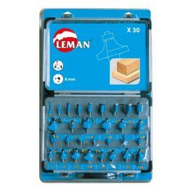 Coffret de 30 mèches de défonceuse Leman DEF.428.30 pas cher
