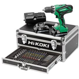 Perceuse-visseuse sans-fil Hikoki KC18DJLFZ 18 V + 2 batteries 2.5 Ah + chargeur + 100 accessoires pas cher