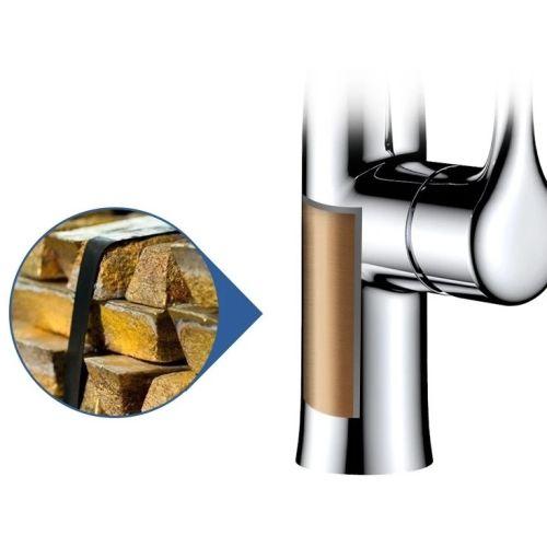Robinet de cuisine à tête amvible CHREMETES - HUDOR - K80551 pas cher Secondaire 1 L