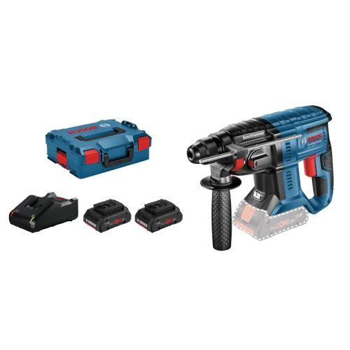 Perforateur Bosch SDS plus GBH 18V-20 + 2 batteries ProCORE18V 4.0Ah + chargeur GAL 18V-40 + L-BOXX photo du produit