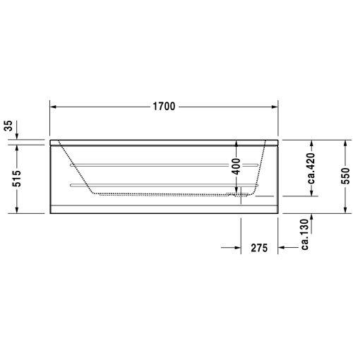 Baignoire D-CODE écoulement latéral DURAVIT photo du produit Secondaire 10 L