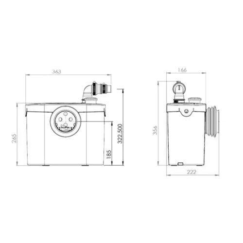 Broyeur SFA Sanibroyeur Pro Up photo du produit Secondaire 1 L