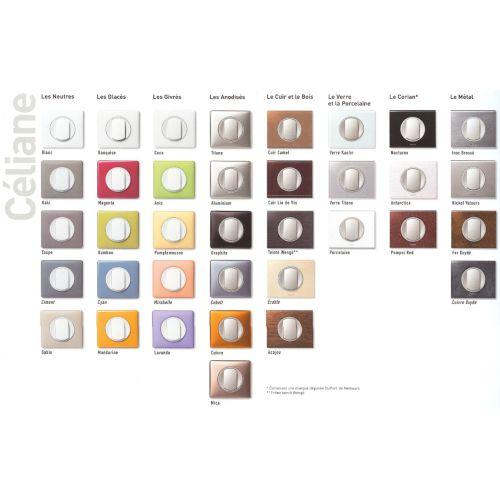 Plaque CÉLIANE N1 3 postes blanc - LEGRAND - 068633 pas cher