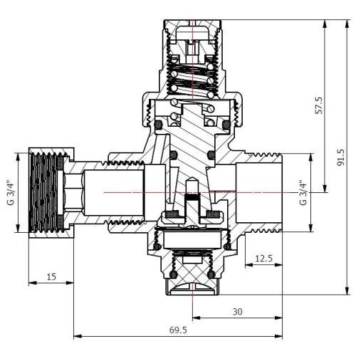 Réducteur de pression pour chauffe-eau - GARIS - S01-REDP-E20 pas cher Secondaire 2 L