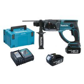 Perforateur-burineur sans-fil Makita SDS-Plus DHR202RFJ 18 V + 2 batteries 3 Ah + chargeur + Makpac photo du produit