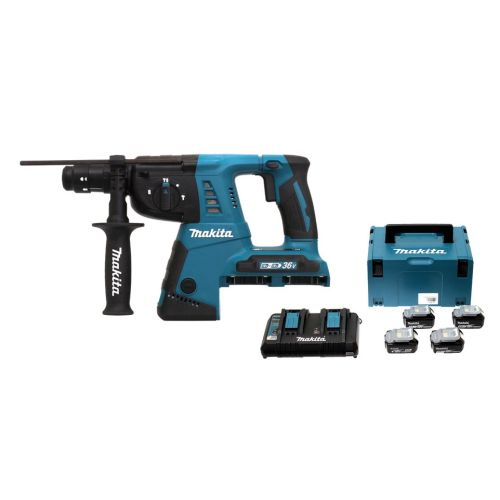 Perfo-burineur Makita DHR264ZJ 36 V + 4 batteries 18 V 5 Ah + chargeur + MAKPAC photo du produit