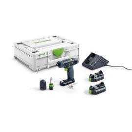 Perceuse-visseuse sans-fil Festool TXS 2,6-Plus 10,8 V + 2 batteries  BP-XS + chargeur MXC photo du produit