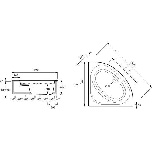 BAIG DOMO (135 X 135 CM) AVC CHÂSSIS ET TABLIER photo du produit Secondaire 1 L