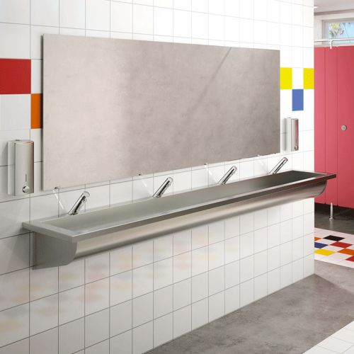 Robinet de lavabo temporisé TEMPOSOFT 2 - DELABIE - 740500 pas cher Secondaire 2 L