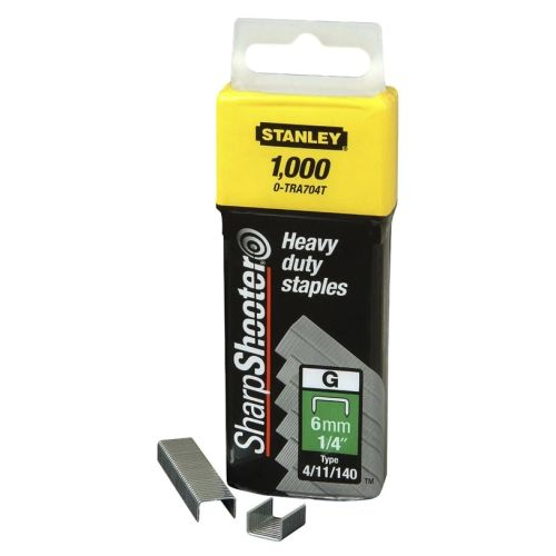 5000 agrafes 6 mm type G - STANLEY - 1-TRA704-5T pas cher