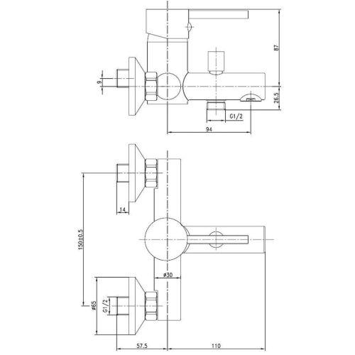 Mitigeur bain-douche ONDYS - GARIS - R01-41040OD pas cher Secondaire 1 L