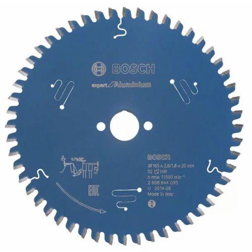 Lame de scie circulaire 165x30x1,6 mm pour l'aluminium - 52 dents - BOSCH EXPERT - 2608644096 pas cher Secondaire 1 L