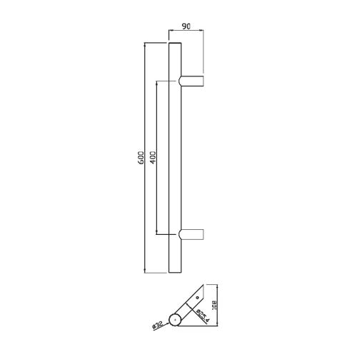 Poignée tubulaire inox Héraclès - Série 5040 pas cher Secondaire 2 L