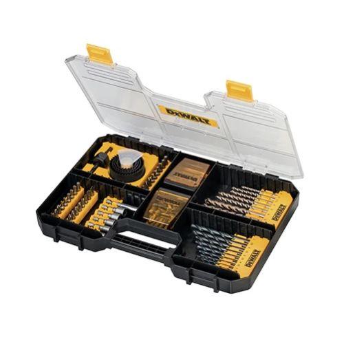 Coffret de 100 accessoires de vissage et perçage T-STAK - DEWALT - DT71569 pas cher