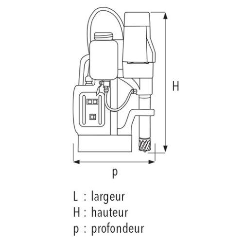 Perceuse à base magnétique Sidamo 35PM+ 1100 W photo du produit Secondaire 3 L