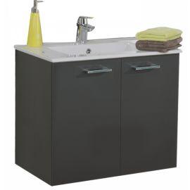 Meuble sous vasque Angelo Graphite 2 portes photo du produit