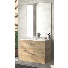 Meuble sous vasque Angelo Chêne 2 tiroirs coulissants NEOVA photo du produit Principale M