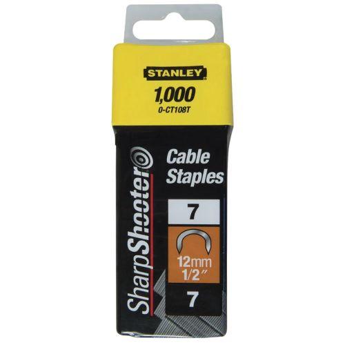 1000 agrafes 12,0 mm cavaliers Type 7 - STANLEY - 1-CT108T pas cher Secondaire 1 L